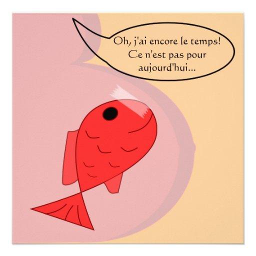"Participación de nacimiento ""pescado de abril "" comunicados personalizados"