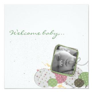 Participación nacimiento diseño JillCreation Invitación 13,3 Cm X 13,3cm