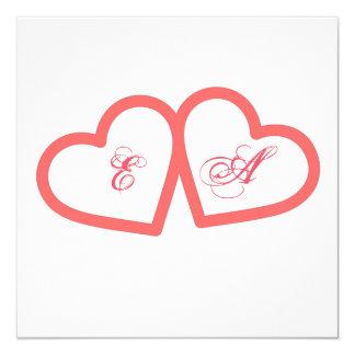 Participación romántico invitación 13,3 cm x 13,3cm