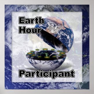 Participante de la hora de la tierra póster