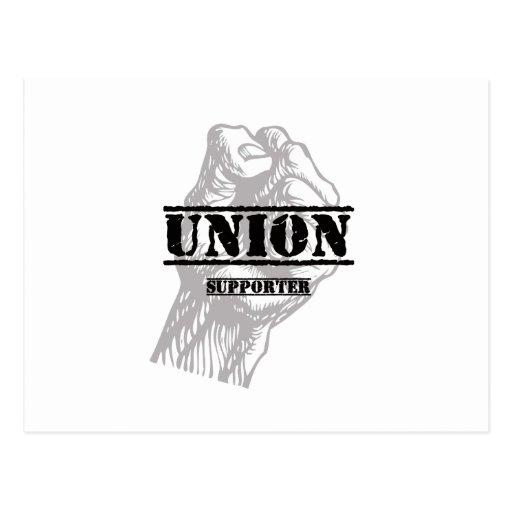 Partidario del gamberro de la unión tarjeta postal