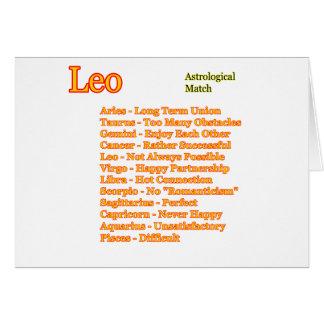 Partido astrológico de Leo los regalos de Zazzle Tarjeta De Felicitación