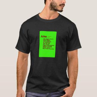 Partido astrológico del aries los regalos de camiseta