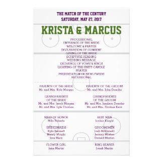 Partido del programa del boda del siglo folleto 14 x 21,6 cm