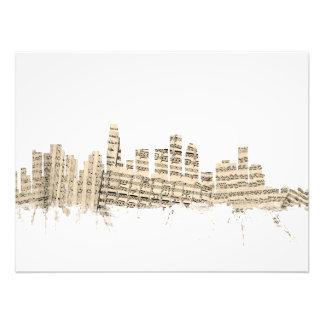 Partitura Citysca del horizonte de Los Ángeles Arte Fotografico