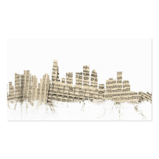 Partitura Citysca del horizonte de Los Ángeles Tarjetas De Visita