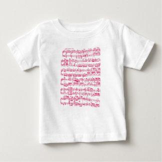 Partitura clásica rosada de neón (Beethoven) Camisetas