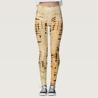 Partitura del vintage leggings