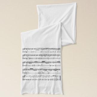 partitura musical de la moda bufanda