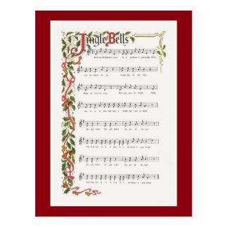 Partitura musical de los cascabeles postal