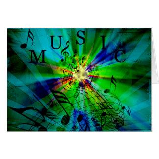 Partitura musical en un fondo abstracto felicitaciones