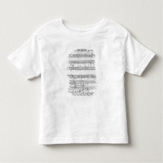 Partitura musical manuscrita camiseta de bebé