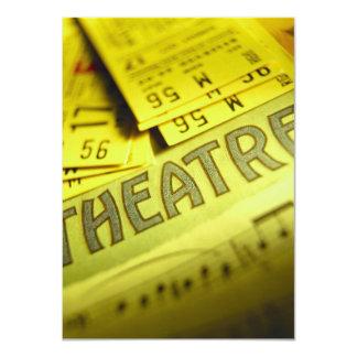 Partitura y boletos del teatro invitación 11,4 x 15,8 cm