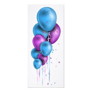 Party globo aerostático tarjeta de invitación