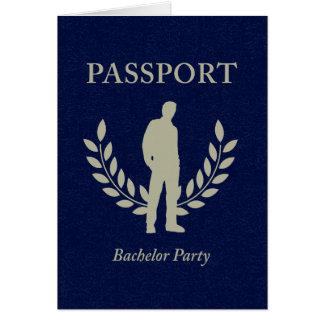 pasaporte de la despedida de soltero tarjeta pequeña