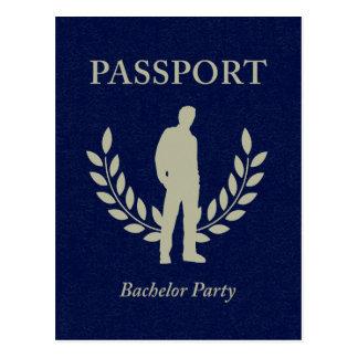 pasaporte de la despedida de soltero tarjetas postales