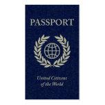 pasaporte de la marina de guerra plantilla de tarjeta de visita