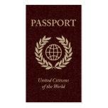 pasaporte plantillas de tarjetas personales
