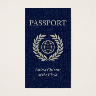 pasaporte tarjeta de negocios
