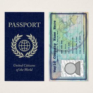 pasaporte tarjeta de visita