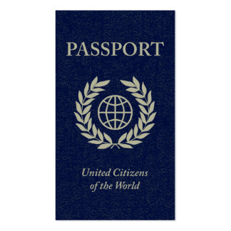 pasaporte tarjetas de visita