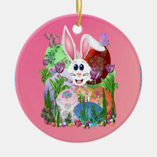 ¡Pascua!  Consiga en ella… Ornamentos Adorno Navideño Redondo De Cerámica