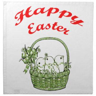 Pascua feliz 4 servilleta de tela