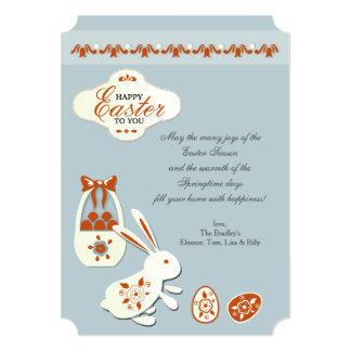 Pascua feliz a usted carda invitación 12,7 x 17,8 cm