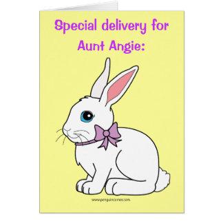 Pascua feliz adaptable conocida, tía Angie Tarjeta De Felicitación