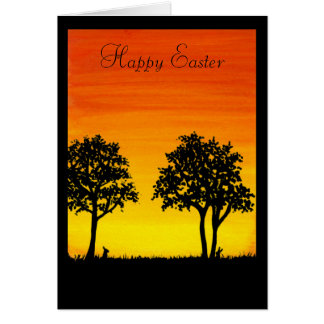 Pascua feliz de nuestro rincón del mundo por tarjeta de felicitación