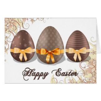 Pascua feliz, huevos de Choco Pascua Tarjeta