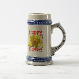 Pascua feliz, narcisos 02.T Jarra De Cerveza