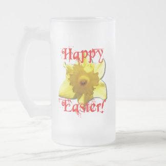 Pascua feliz, narcisos 02.T Taza De Cristal Esmerilado