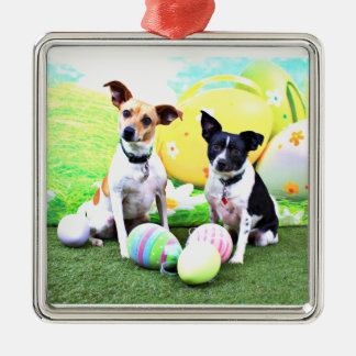 Pascua - fox terrier - Sadie y Baboo Adornos De Navidad