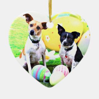 Pascua - fox terrier - Sadie y Baboo Ornaments Para Arbol De Navidad