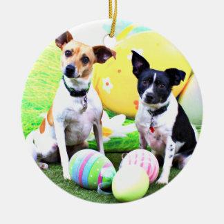 Pascua - fox terrier - Sadie y Baboo Ornamente De Reyes