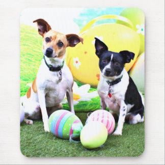 Pascua - fox terrier - Sadie y Baboo Alfombrilla De Ratón