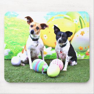 Pascua - fox terrier - Sadie y Baboo Alfombrilla De Ratones