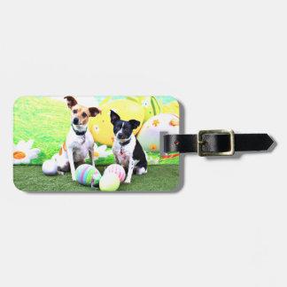 Pascua - fox terrier - Sadie y Baboo Etiqueta Para Equipaje