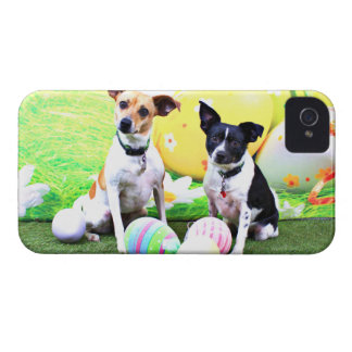 Pascua - fox terrier - Sadie y Baboo iPhone 4 Carcasas