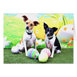 Pascua - fox terrier - Sadie y Baboo Tarjeta Pequeña
