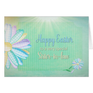 Pascua - margarita de la guinga - cuñada tarjeta de felicitación