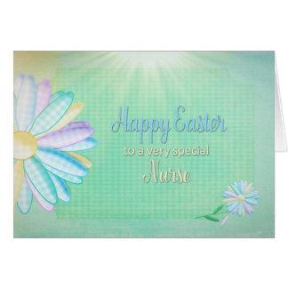 Pascua - margarita de la guinga - una enfermera tarjeta de felicitación