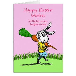 Pascua para la nuera, frente de encargo, añade el tarjeta de felicitación