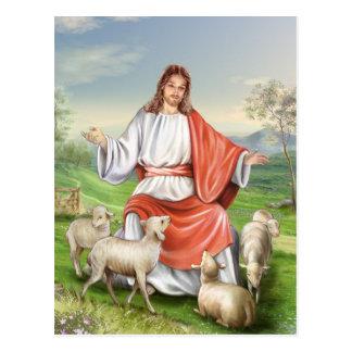 Pascua religiosa, Jesús con las ovejas. Pascua Postal