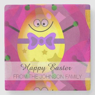 Pascua rosada brillante posavasos de piedra
