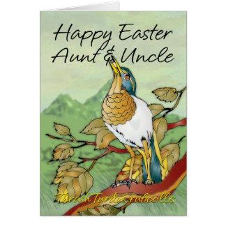 Pascua - tía y tío tarjeta de felicitación