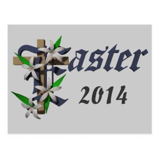 Pascua y lirios - postal