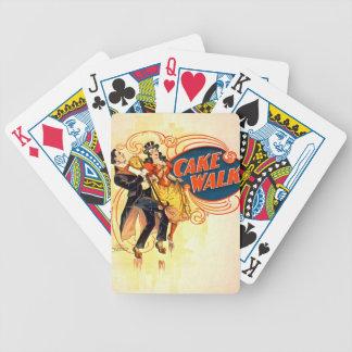 Paseo 1898 de la torta baraja cartas de poker