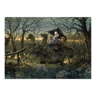 """Paseo a través del """"bosque frecuentado invitación 12,7 x 17,8 cm"""
